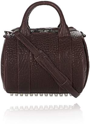Alexander Wang Rockie In Pebbled Beet With Rhodium