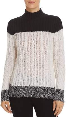 Bloomingdale's C by Mixed Knit Color-Block Cashmere Sweater - 100% Exclusive