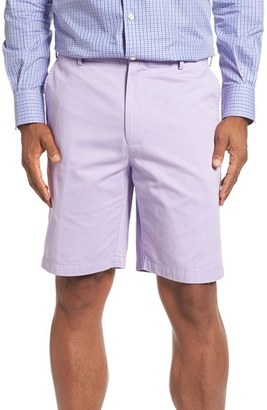 Men's Peter Millar 'Winston' Washed Twill Flat Front Shorts $85 thestylecure.com