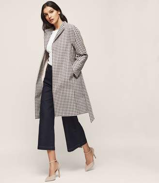 Reiss Mae Checked Trench Coat