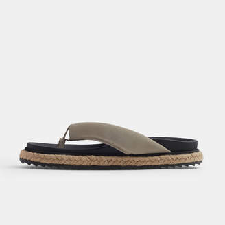 James Perse PADDED SUEDE THONG SANDAL - WOMENS