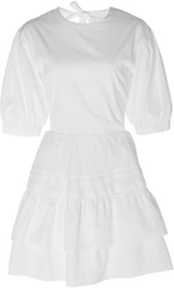 SIR the Label Delilah Lace-Up Cotton-Poplin Mini Dress Size: 1