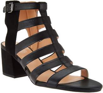 Franco Sarto Leather Multi-strap Open Toe Sandals - Mesa