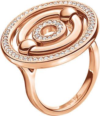 Folli Follie Bonds rose gold-plated sparkle ring