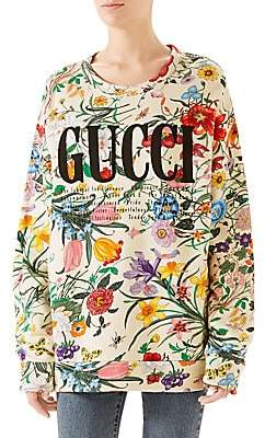 Gucci Women's Floral Logo Sweatshirt