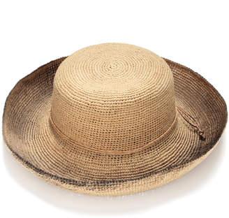 Justine Hats Raffia Straw Hat with Black Brim