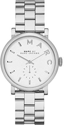 Marc by Marc Jacobs Fossil Watches Women's MBM3242 Baker Silver-Tone Stainless Steel Watch with Link Bracelet