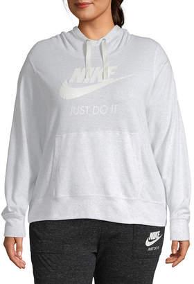 Nike Womens Long Sleeve Knit Hoodie-Plus