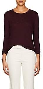 ATM Anthony Thomas Melillo Women's Distressed Slub Cotton Jersey Long-Sleeve T-Shirt - Wine