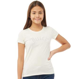 Juicy Couture Girls Gothic Short Sleeve T-Shirt Vanilla