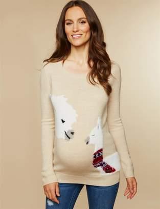 Original Penguin Motherhood Maternity Polar Bear Christmas Maternity Sweater