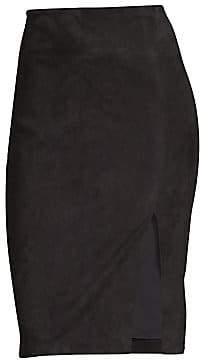 Alice + Olivia Women's Tani Suede Pencil Skirt - Size 0