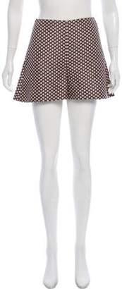 Marni High-Rise Printed Mini Shorts