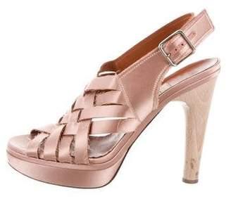 Lanvin Cage Platform Sandals