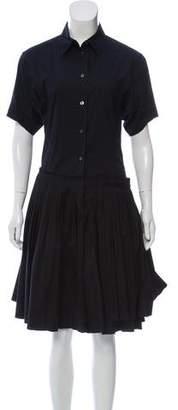 Prada Collared Midi Dress