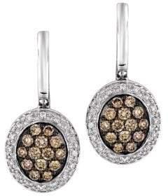LeVian Le Vian Diamond Drop Earrings in 14K Vanilla Gold .61ct. t.w.