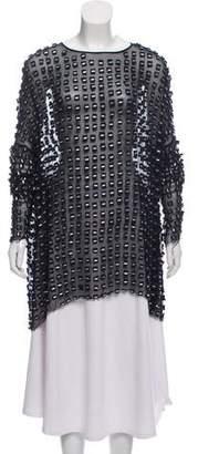 Diane von Furstenberg Silk Embellished Blouse