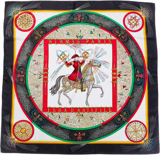 Hermes Feux D'artifice By Michel Duchene Silk Scarf