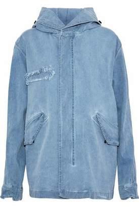Mr & Mrs Italy Frayed Denim Hooded Jacket
