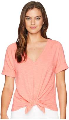 Lilla P Tie Front Tee Women's Clothing