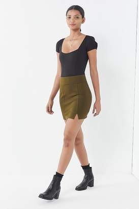 Urban Outfitters Lydia Notch Ponte Mini Skirt