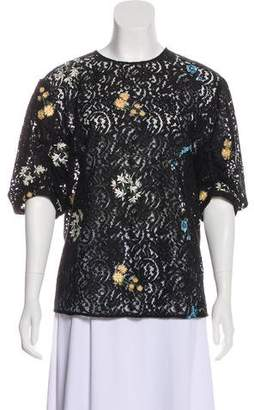 No.21 No. 21 Embroidered Lace Blouse