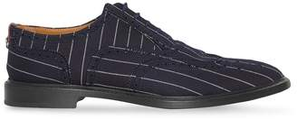 Burberry Pinstriped Wool Brogues