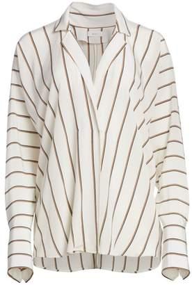 A.L.C. Noreen Stripe High-Low Shirt