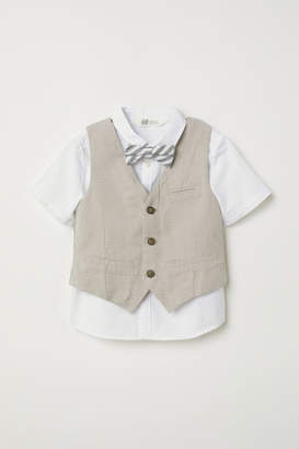 H&M Shirt with Vest - White