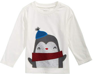 First Impressions Baby Boys Long-Sleeve Penguin T-Shirt