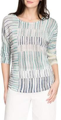 Nic+Zoe NIC & ZOE Women's Sea Wall Stripes Top - XL