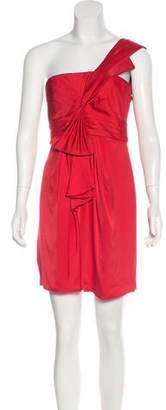 BCBGMAXAZRIA Pleated One-Shoulder Dress w/ Tags