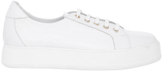 Amber White Leather Sneaker