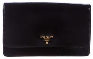 pradaPrada Saffiano Vernice Wallet w/ Strap