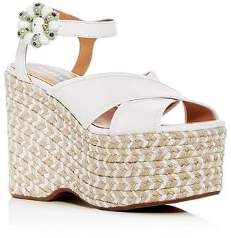 Marc Jacobs Women's Rowan Leather Espadrille Platform Wedge Sandals