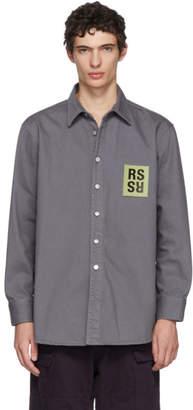 Raf Simons Grey Denim Logo Patch Shirt