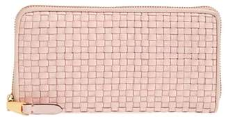 Cole Haan Zoe Woven RFID Leather Continental Zip Wallet