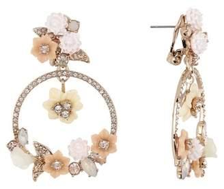 Marchesa Large Orbital Crystal Floral Drop Earrings