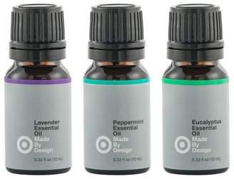 Made By Design .33 fl oz 3pk Essential Oil Starter Set Lavender/Peppermint/Eucalyptus - Made By Design