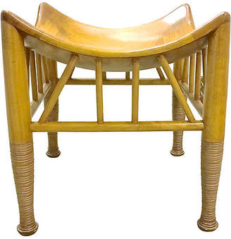One Kings Lane Vintage Midcentury Thebes-Style Bench - Vermilion Designs