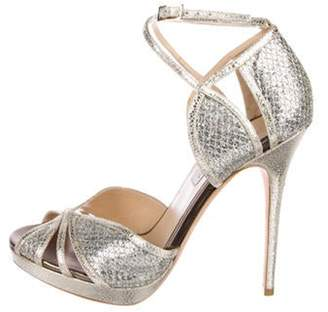 Jimmy Choo Metallic High-Heel Sandals Gold Metallic High-Heel Sandals