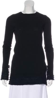 RED Valentino Trim-Accented Crew Neck Sweater