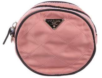 Prada Quilted Tessuto Zip Pouch