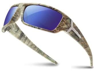 Shark Eyes INC RealTree Xtra Camouflage Print Hunting Fishing Polarized Sport Sunglasses Blue Lens