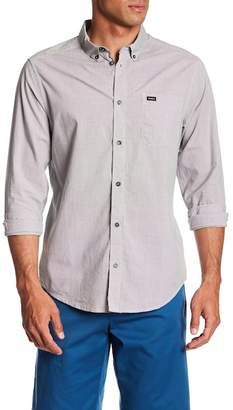 RVCA That'll Do Micro Long Sleeve Slim Fit Plaid Shirt