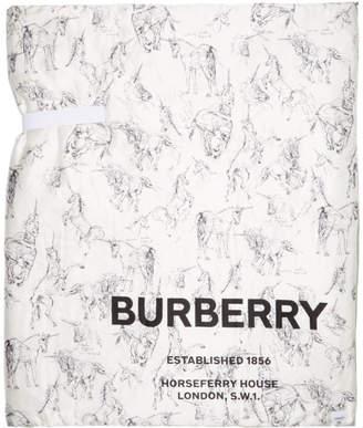 Burberry Multicolor Oversized Silk Padded Scarf