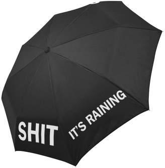 Hipster Umbrellas Funny Hipster Quotes Saying Shit It's Raining Cheap Folding Travel Umbrella, Sun/Rain Compact Parasol Umbrella