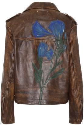 Golden Goose Painted leather jacket