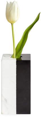 Jonathan Adler Canaan Marble Bud Vase - Black/White
