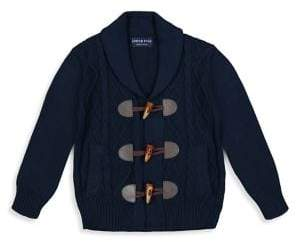 Andy & Evan Little Boy's Cotton Cable-Knit Cardigan